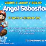 Invitaciones de cumpleaños de Super Mario Bros 3 Gratis