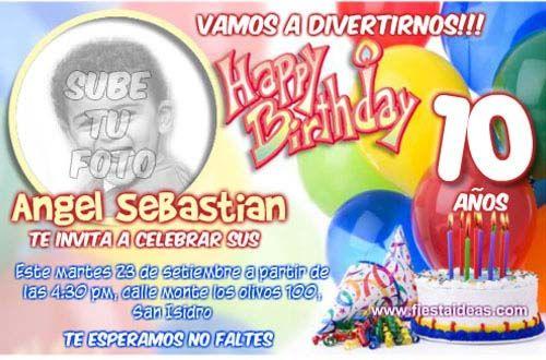 c489ead09694d Invitaciones de cumpleaños con foto para imprimir gratis