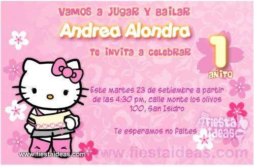 Invitaciones De Cumpleaños De Hello Kitty Gratis