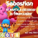 Invitaciones de cumpleaños de Pocoyo Gratis