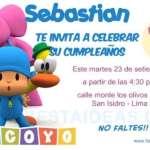 Invitaciones de cumpleaños de Pocoyo 2 Gratis