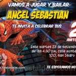 Invitaciones de cumpleaños del Sorprendente Hombre Araña 2 Gratis