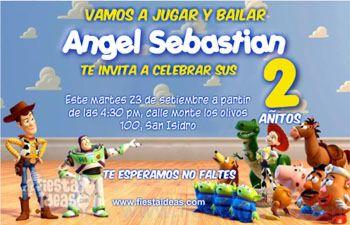 Invitaciones De Cumplea 241 Os De Toy Story Gratis