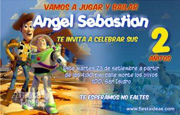 Invitaciones De Cumpleanos De Toy Story Gratis