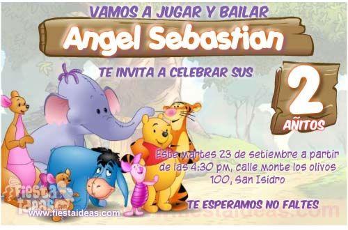 Invitaciones De Cumpleanos De Winnie Pooh Gratis