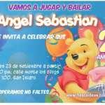 Invitaciones de cumpleaños de Winnie pooh fiesta Gratis