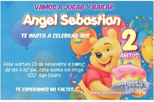 Invitaciones De Cumpleaños De Winnie Pooh Gratis