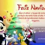 Tarjetas de Navidad de Mickey mouse y sus amigos