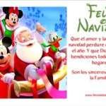 Tarjetas de Navidad de Mickey mouse sus amigos y papa noel
