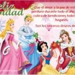 Tarjetas de Navidad de las princesas disney