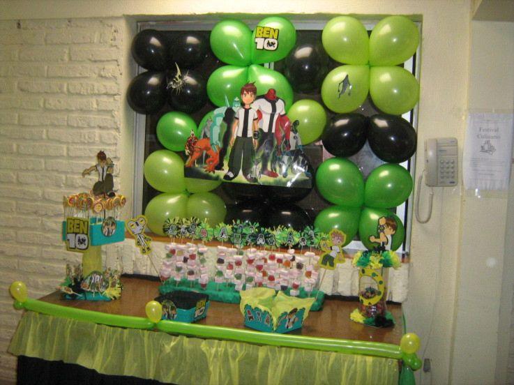 celebración de Ben 10 ideas de decoración de fiesta de cumpleaños