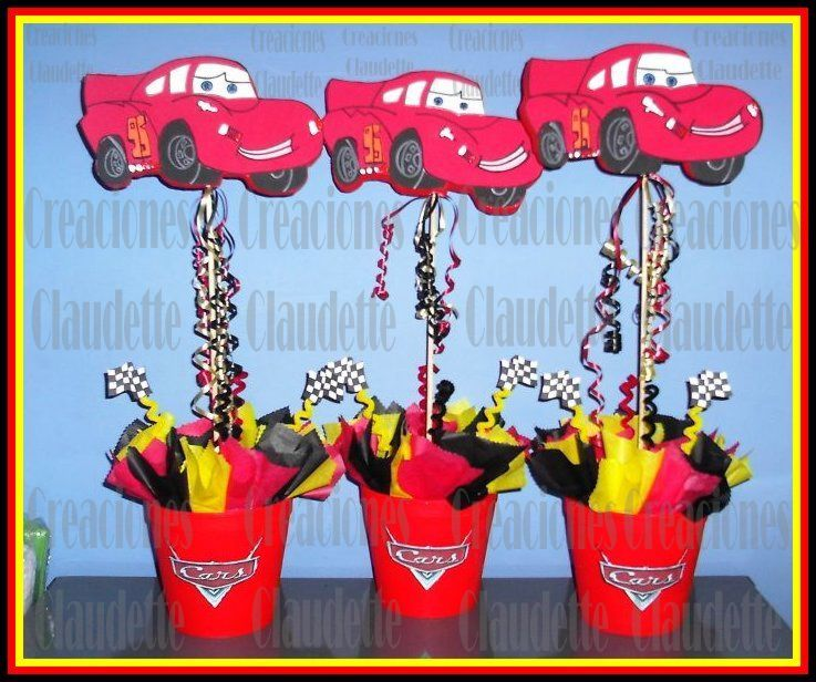 Ideas de decoración fiesta cars rayo mcqueen -