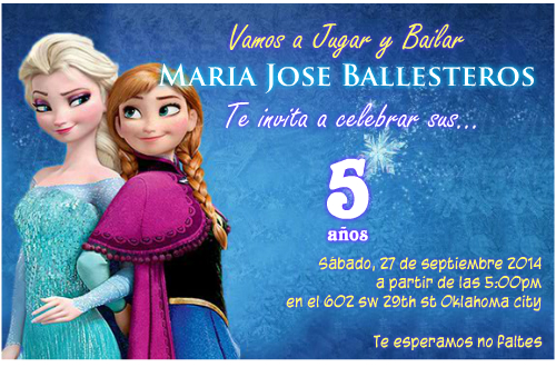 Invitaciones De Frozen Solo Los Mejores Diseños Para