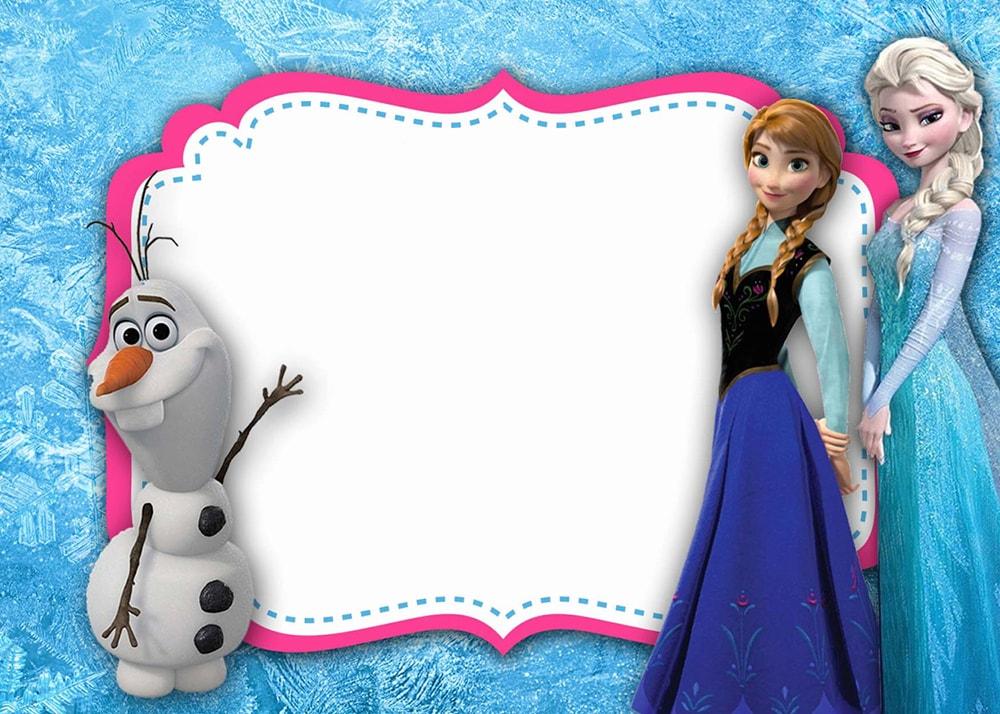 Invitaciones De Frozen Solo Los Mejores Disenos Para Imprimir
