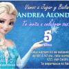 Frozen Una Aventura Congelada invitaciones de cumpleaños