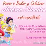 Invitaciones Princesas Disney Baby – Bebes