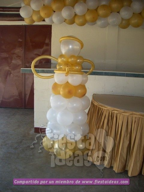 Ideas de decoraci n para una fiesta de bautizo for Decoracion de globos para bautizo