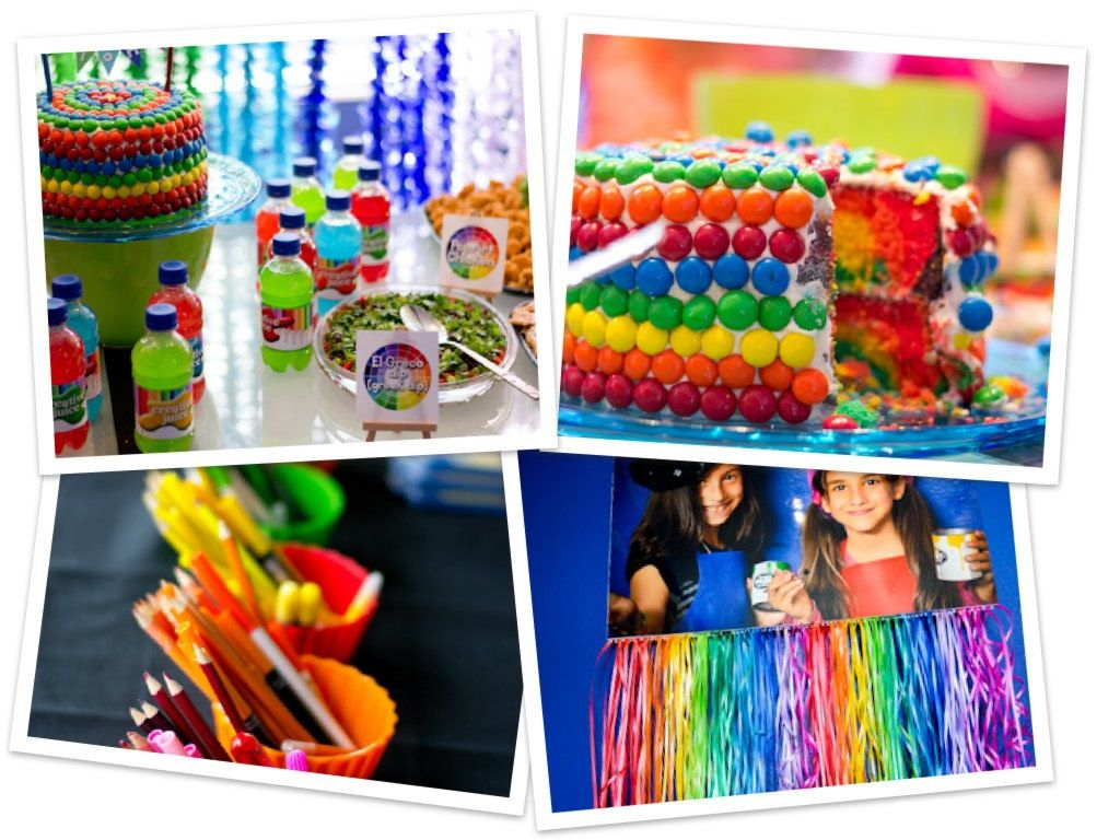 Fiesta arcoiris con ideas llenas de colores y diversion - Ideas decoracion fiestas ...