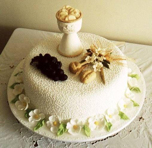 Originales decoraciones de tortas de primera comunion for Decoracion de pared para primera comunion