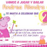invitaciones de Peppa Pig disfrazada de hada junto a su familia