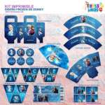 Kit imprimible Frozen espectacular para decorar fiestas