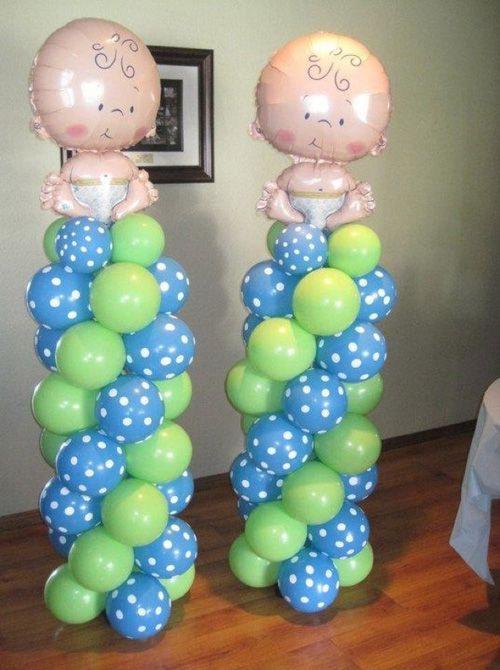 Decoracion con globos para baby shower car interior design - Decoracion de globos ...