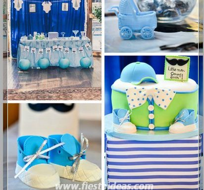 baby shower para ni o con hermosas decoraciones