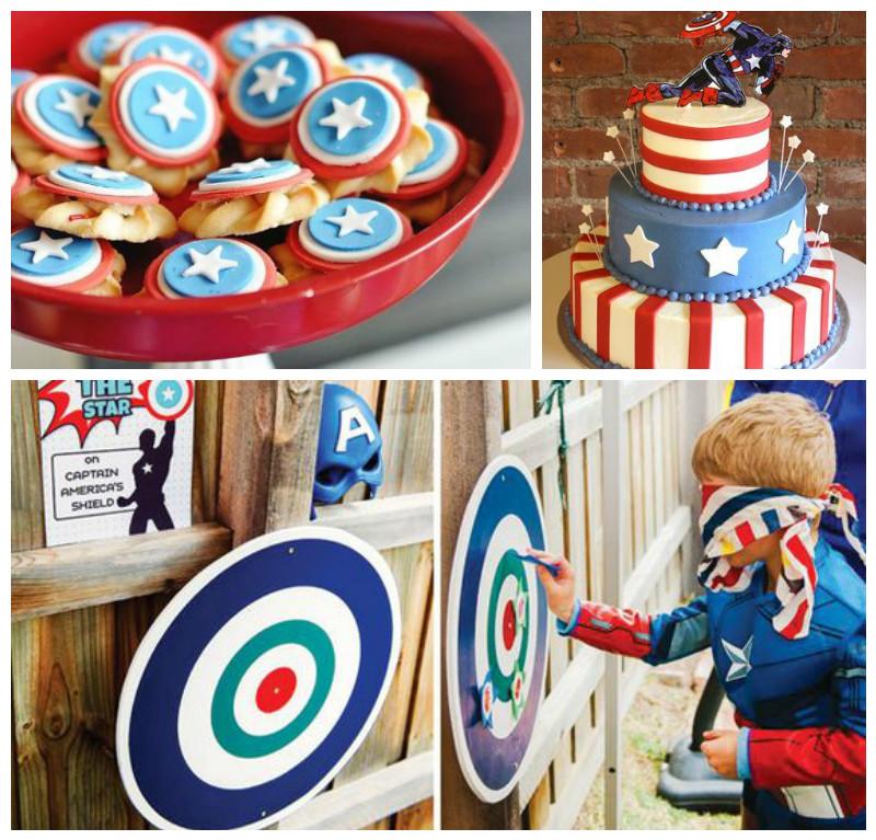 Centro De Mesa Capitán América: Fiesta Del Capitán America Con Originales Decoraciones