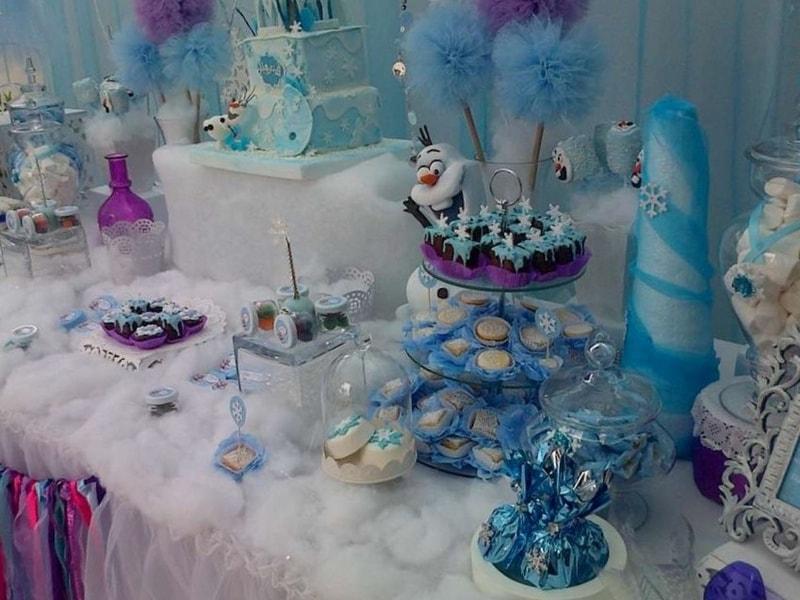 Copos De Nieve Para Decorar Fiesta Frozen.30 Centros De Mesa De Frozen Originales Ideas Que Te