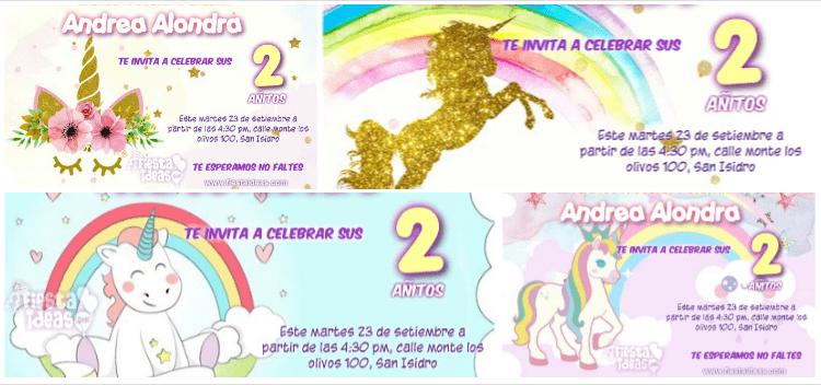 Invitaciones de unicornio: 7 lindos diseños (Actualizado 2018)