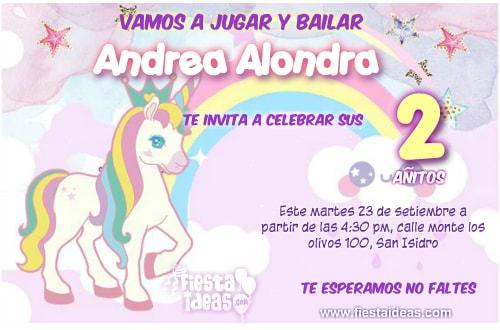 45 Invitaciones De Unicornio Los Mejores Diseños Editables