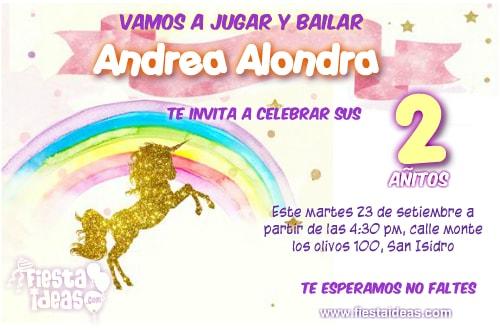 Invitaciones De Unicornio Los Mejores Y Lindos Diseños Editables
