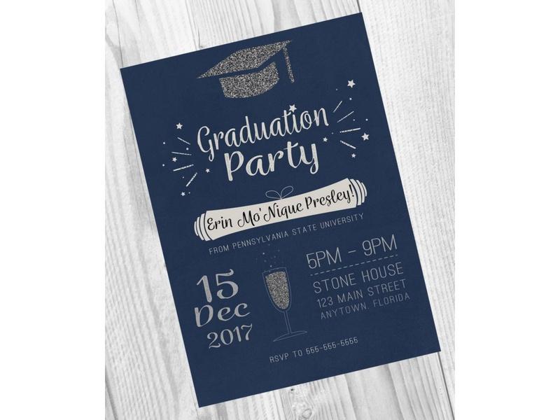 Ejemplos De Invitaciones De Graduacion